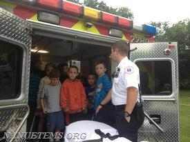 Lt. Roemish answering students' questions. Photo: Nanuet EMS