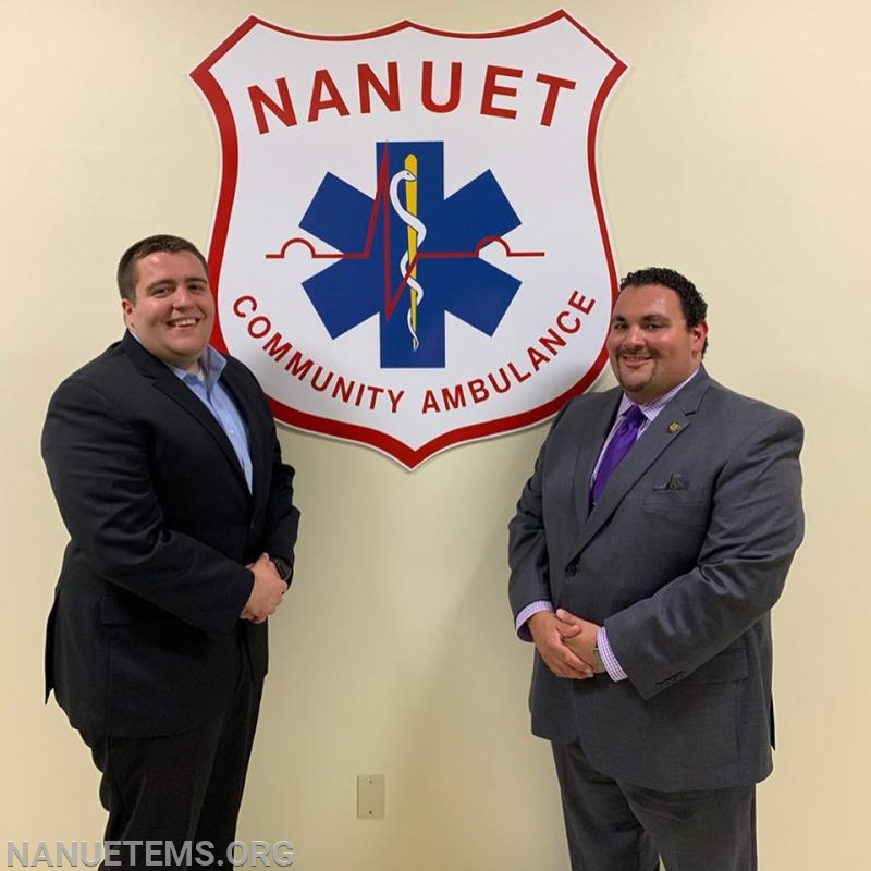 Left to Right:  EMT M.Zoda, Asst.Chief J.Delgado